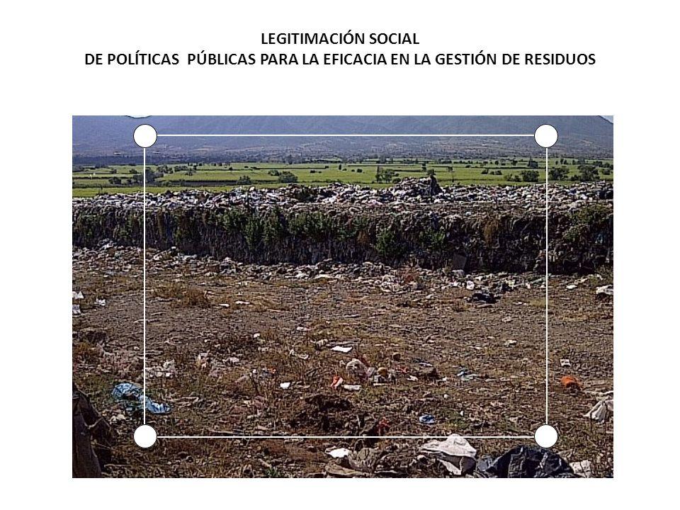 LEGITIMACIÓN SOCIAL DE POLÍTICAS PÚBLICAS PARA LA EFICACIA EN LA GESTIÓN DE RESIDUOS