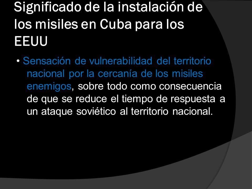 La amenaza de los misiles cubanos (1962)