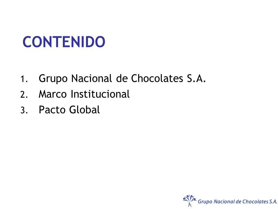 CONTENIDO 1. Grupo Nacional de Chocolates S.A. 2. Marco Institucional 3. Pacto Global