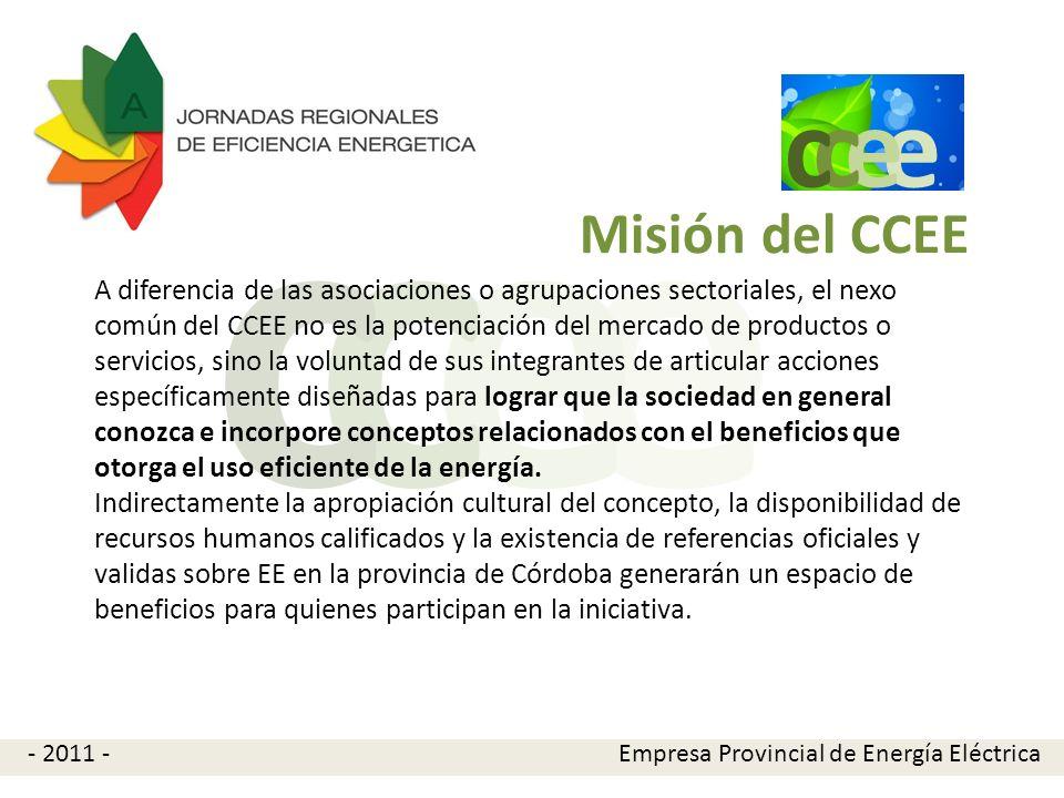 e e cc Misión del CCEE A diferencia de las asociaciones o agrupaciones sectoriales, el nexo común del CCEE no es la potenciación del mercado de produc