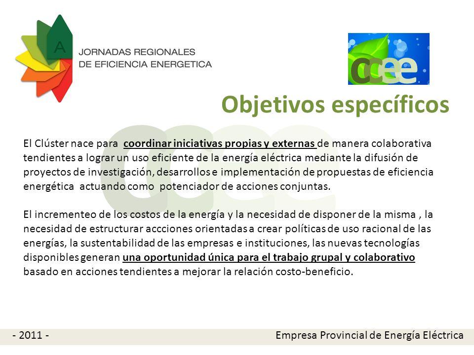 e e cc La creación del CCEE es una iniciativa de la Empresa Provincial de Energía de Córdoba que busca reunir a los principales referentes de la eficiencia energética locales para sinergizar esfuerzos tendientes a posicionar a Córdoba como una provincia energéticamente eficiente.