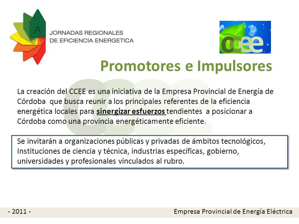 e e cc La creación del CCEE es una iniciativa de la Empresa Provincial de Energía de Córdoba que busca reunir a los principales referentes de la efici