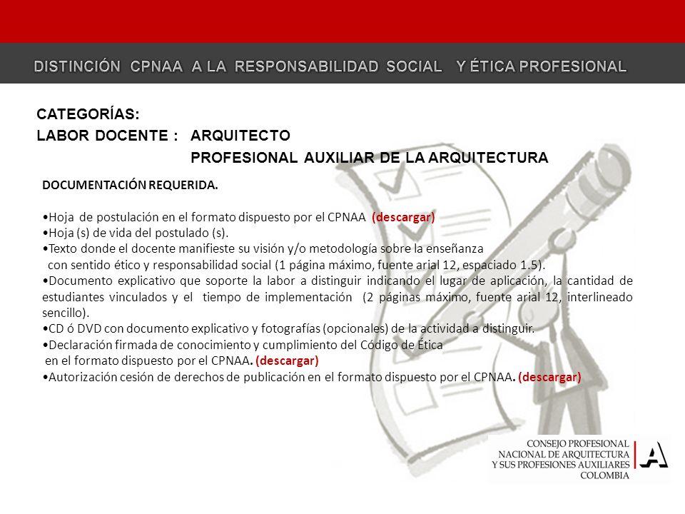 EJERCICIO PROFESIONAL ARQUITECTO DOCUMENTACIÓN REQUERIDA.
