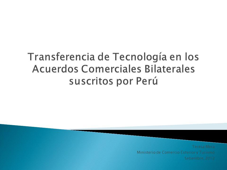 Teresa Mera Ministerio de Comercio Exterior y Turismo Setiembre, 2012