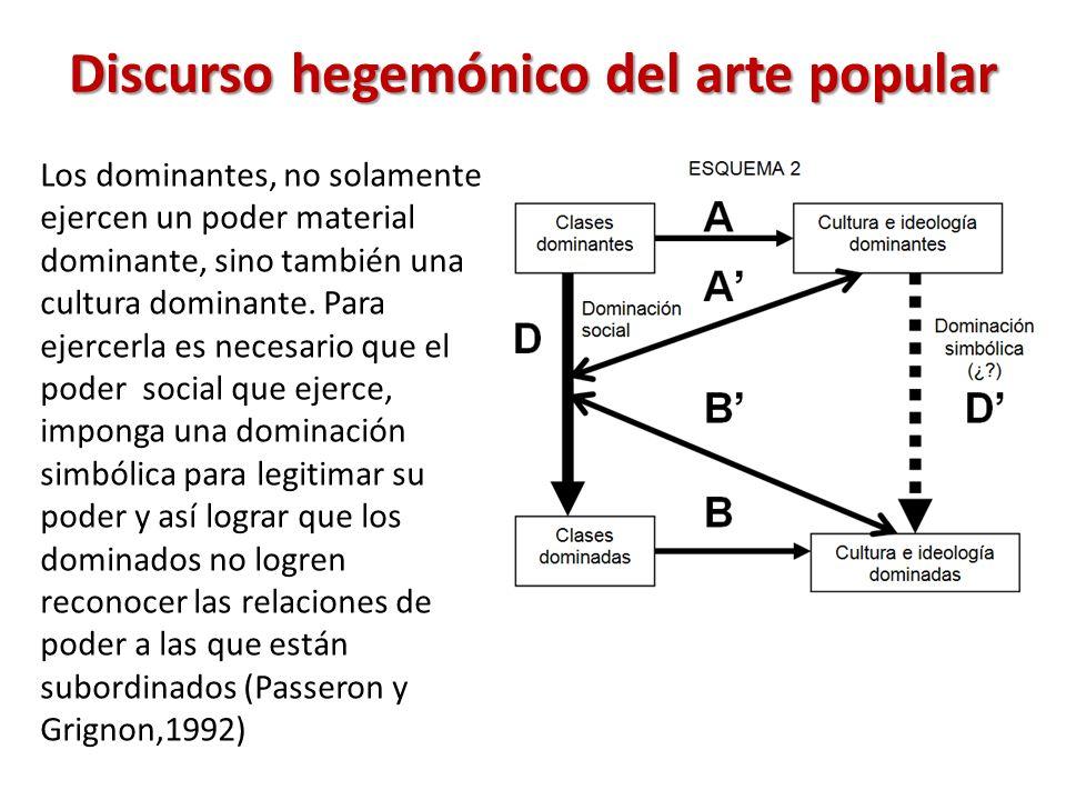 Los dominantes, no solamente ejercen un poder material dominante, sino también una cultura dominante.