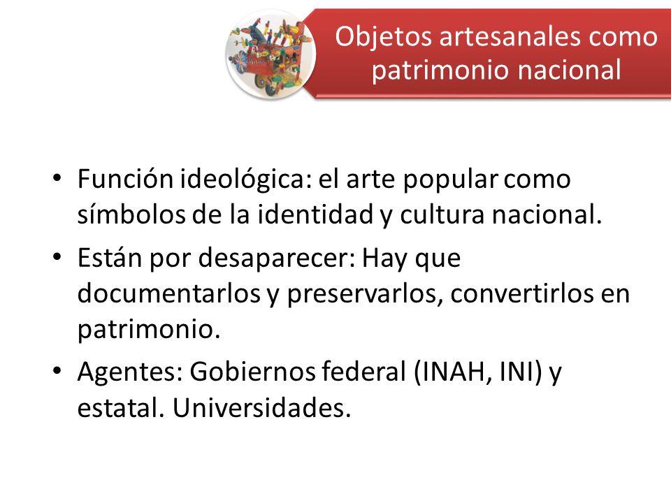 Función ideológica: el arte popular como símbolos de la identidad y cultura nacional.