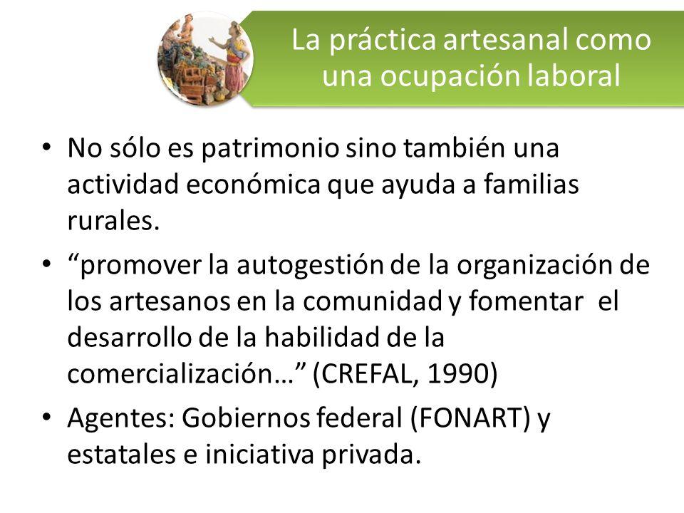 No sólo es patrimonio sino también una actividad económica que ayuda a familias rurales. promover la autogestión de la organización de los artesanos e
