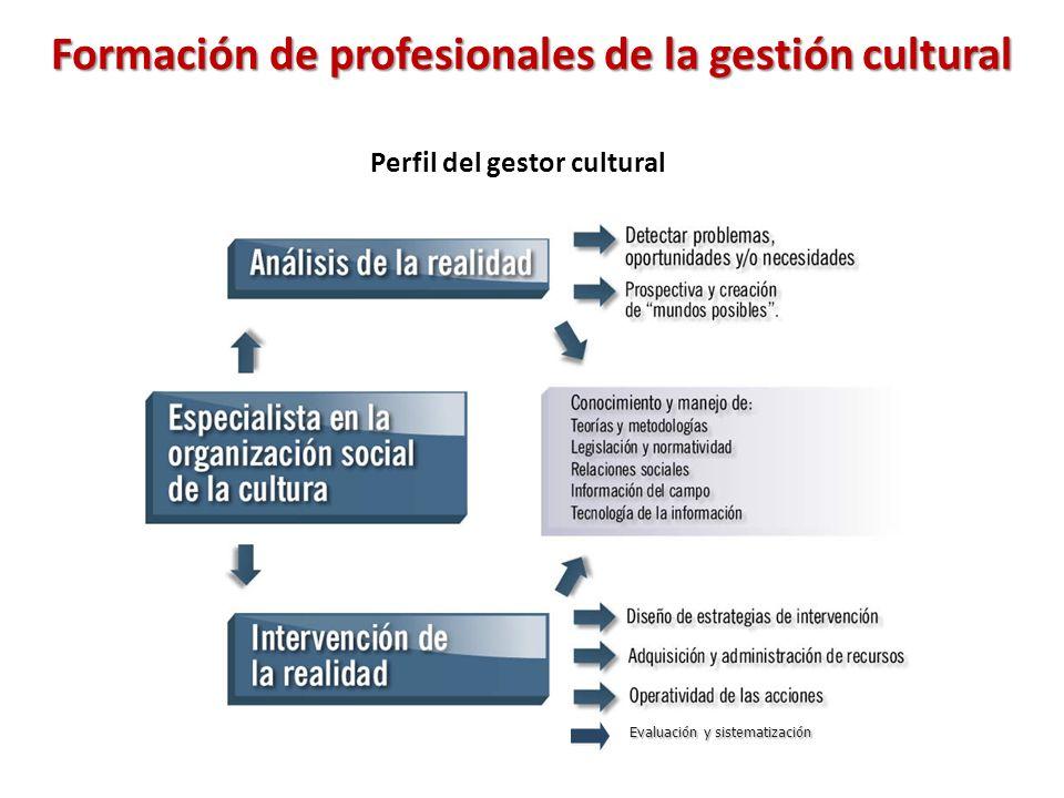 Formación de profesionales de la gestión cultural Evaluación y sistematización Perfil del gestor cultural