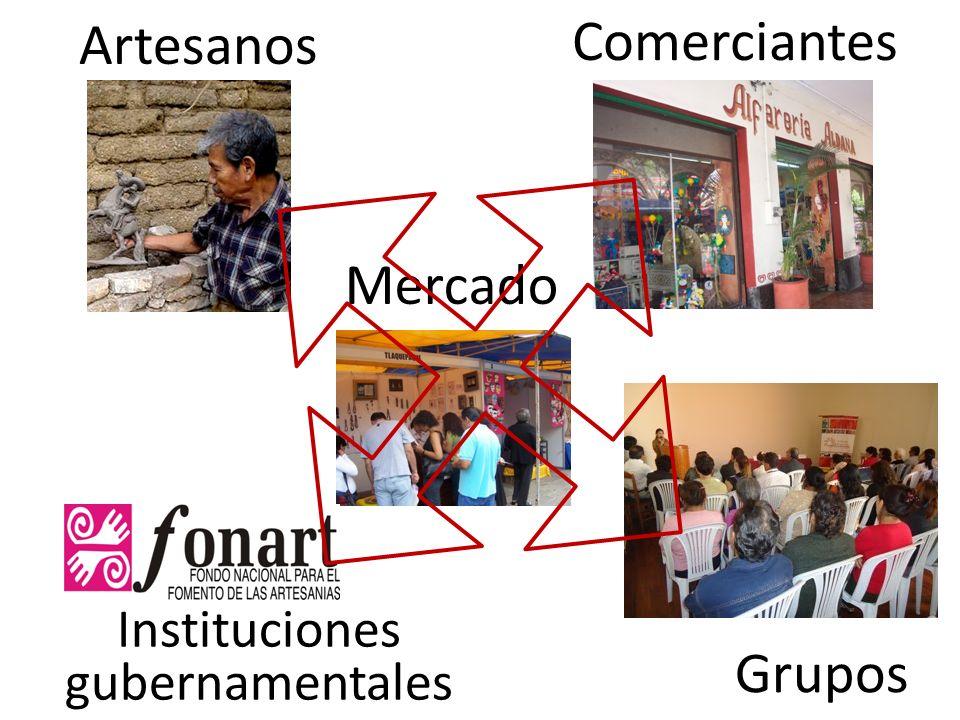 Artesanos Mercado Comerciantes Grupos Instituciones gubernamentales