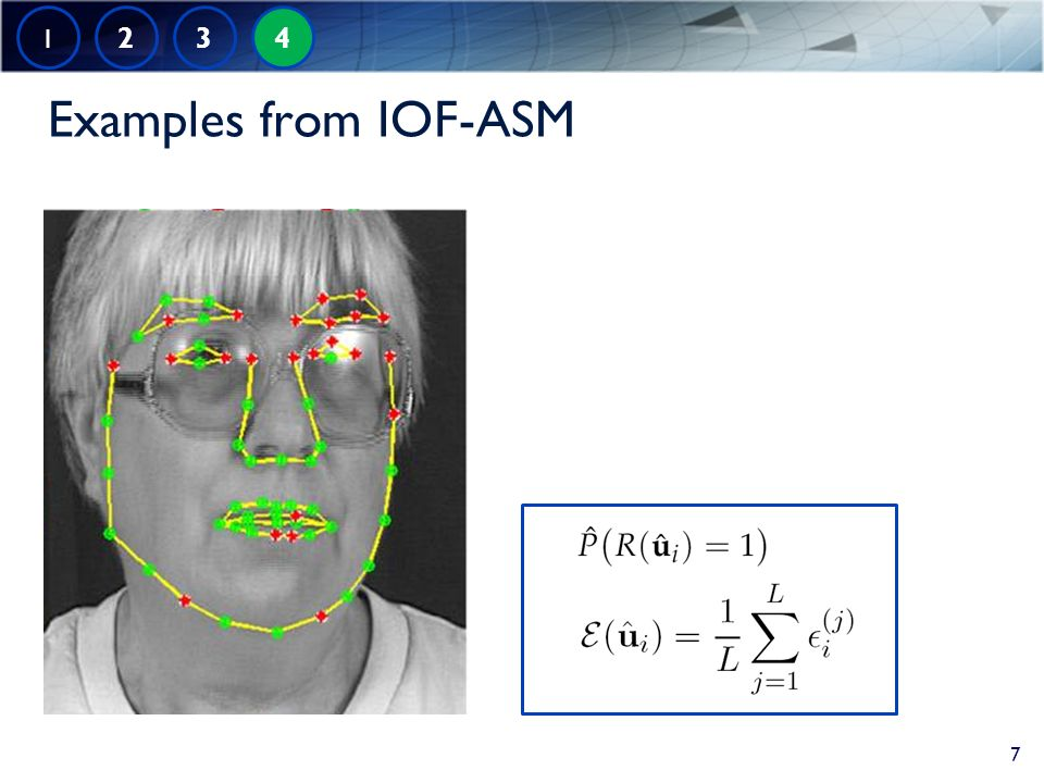 Examples from IOF-ASM 1 2 3 4 7