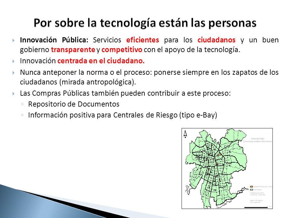 Innovación Pública: Servicios eficientes para los ciudadanos y un buen gobierno transparente y competitivo con el apoyo de la tecnología. Innovación c