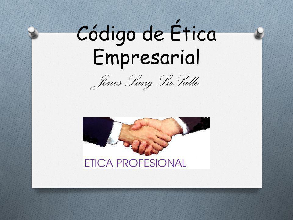 Código de Ética Empresarial Jones Lang LaSalle
