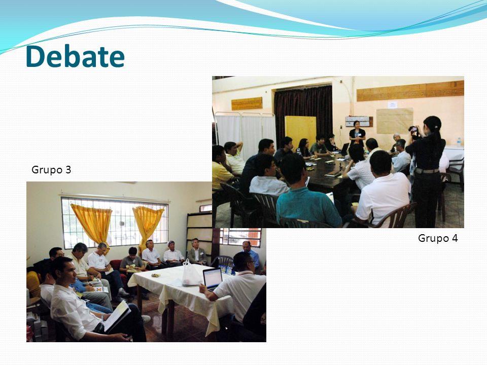 Debate Grupo 4 Grupo 3