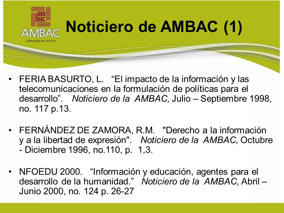 Noticiero de AMBAC (1) FERIA BASURTO, L.