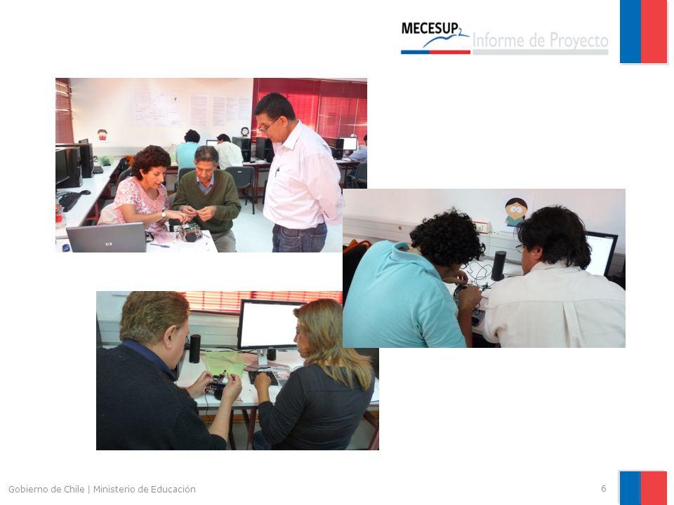 Actividades realizadas 27 Gobierno de Chile   Ministerio de Educación OBJ.E.3 Incorporar gradualmente la Robótica a metodologías de enseñanza aprendizaje Estrategia 3.2: Consolidación de academia de Automatización y Robótica.