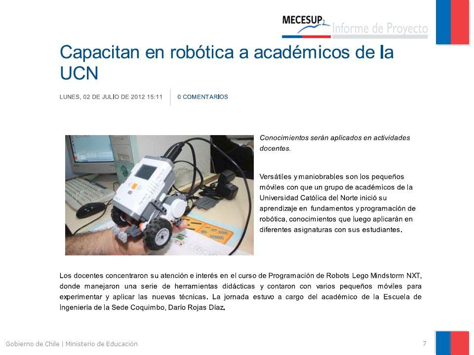Indicadores de Resultado 18 Gobierno de Chile   Ministerio de Educación Descripción Indicador Medida del Indicador Valor Base Meta Final AvanceComentarios Estudiantes de Pregrado Formados como Monitores.