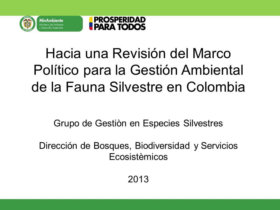 Fomentar y optimizar el uso sostenible de la fauna como alternativa socioeconómica de la población humana y como estrategia de conservación de los sistemas naturales, a partir de su inclusión activa en la economía nacional.
