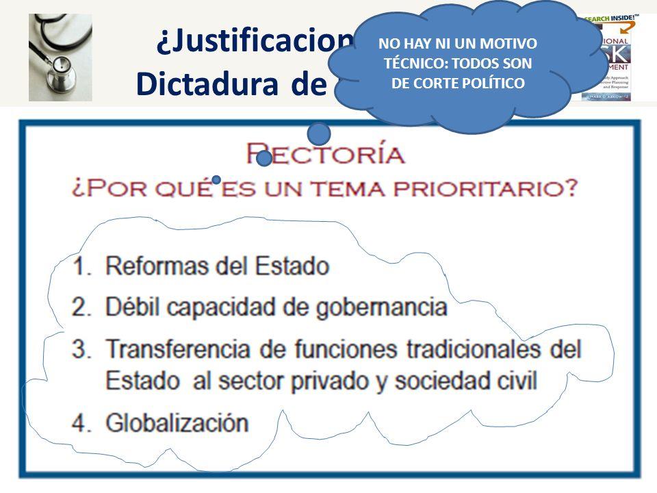 ¿Justificaciones para la Dictadura de los Centros? NO HAY NI UN MOTIVO TÉCNICO: TODOS SON DE CORTE POLÍTICO