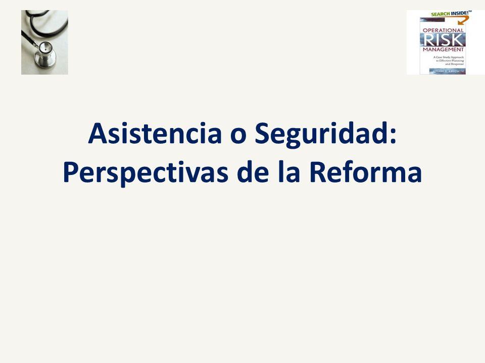Asistencia o Seguridad: Perspectivas de la Reforma