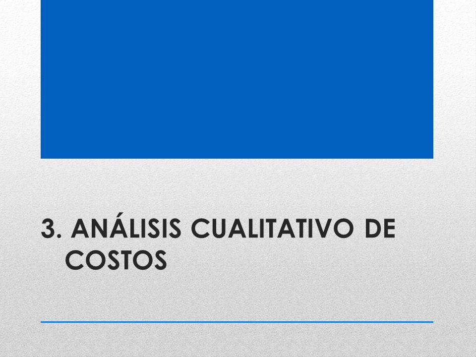 3. ANÁLISIS CUALITATIVO DE COSTOS