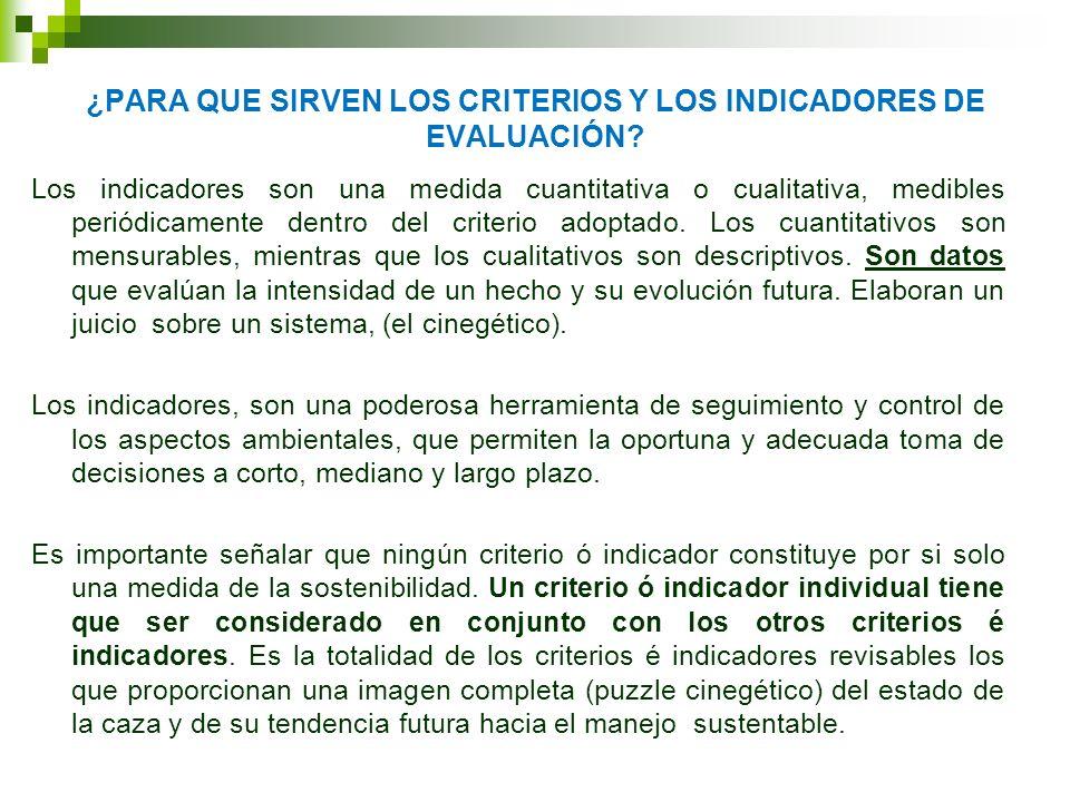 CARACTERISTICAS DE LOS INDICADORES Un indicador debe tener las siguientes características (SAGPYA, 2000): Mensurable: La disponibilidad de datos de calidad debe ser un factor en la selección.