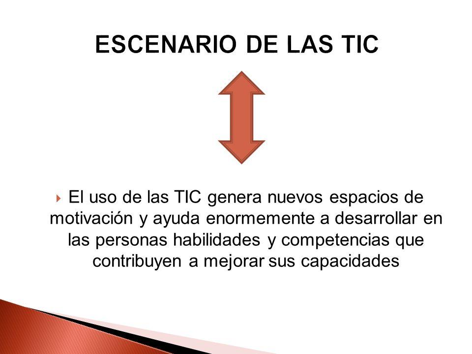 El uso de las TIC genera nuevos espacios de motivación y ayuda enormemente a desarrollar en las personas habilidades y competencias que contribuyen a
