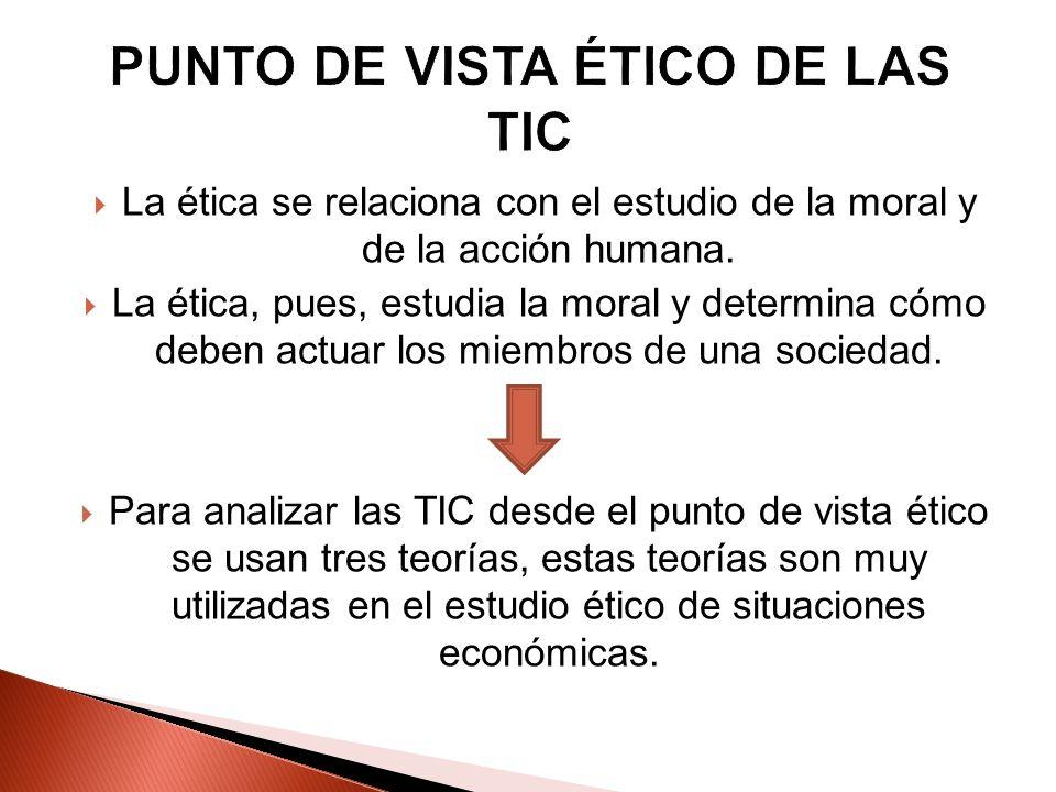 La ética se relaciona con el estudio de la moral y de la acción humana. La ética, pues, estudia la moral y determina cómo deben actuar los miembros de