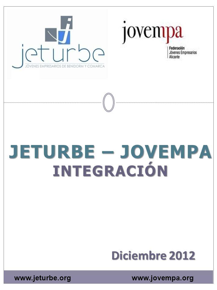 JETURBE – JOVEMPA INTEGRACIÓN Diciembre 2012 www.jovempa.orgwww.jeturbe.org