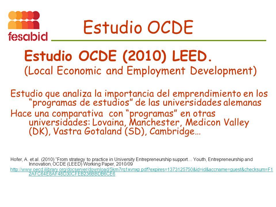 Estudio OCDE Estudio OCDE (2010) LEED.