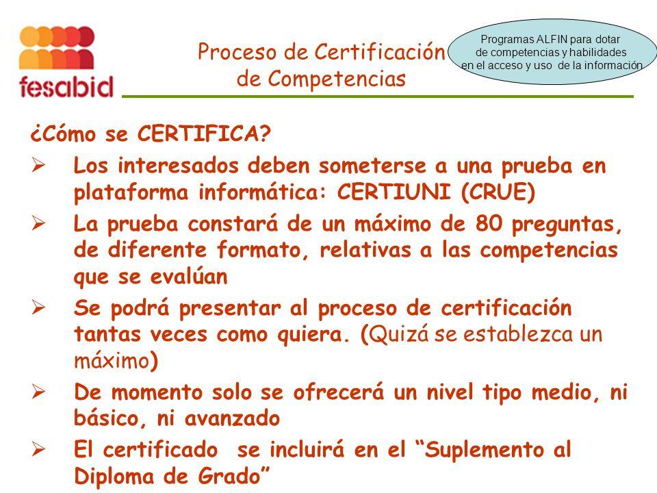 Proceso de Certificación de Competencias ¿Cómo se CERTIFICA.