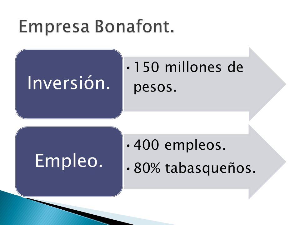 150 millones de pesos. Inversión. 400 empleos. 80% tabasqueños. Empleo.