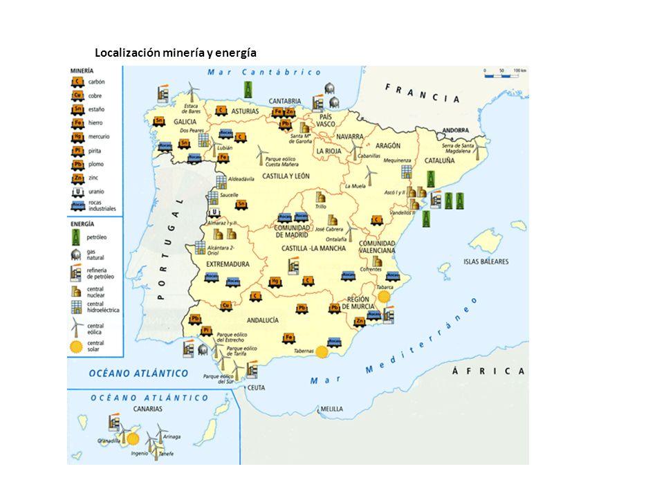 Localización minería y energía