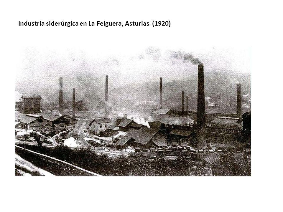 Industria siderúrgica en La Felguera, Asturias (1920)