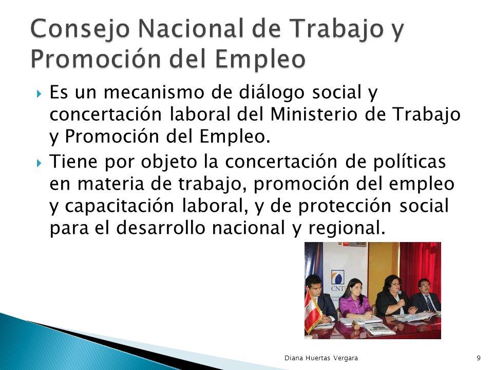 Es un mecanismo de diálogo social y concertación laboral del Ministerio de Trabajo y Promoción del Empleo.