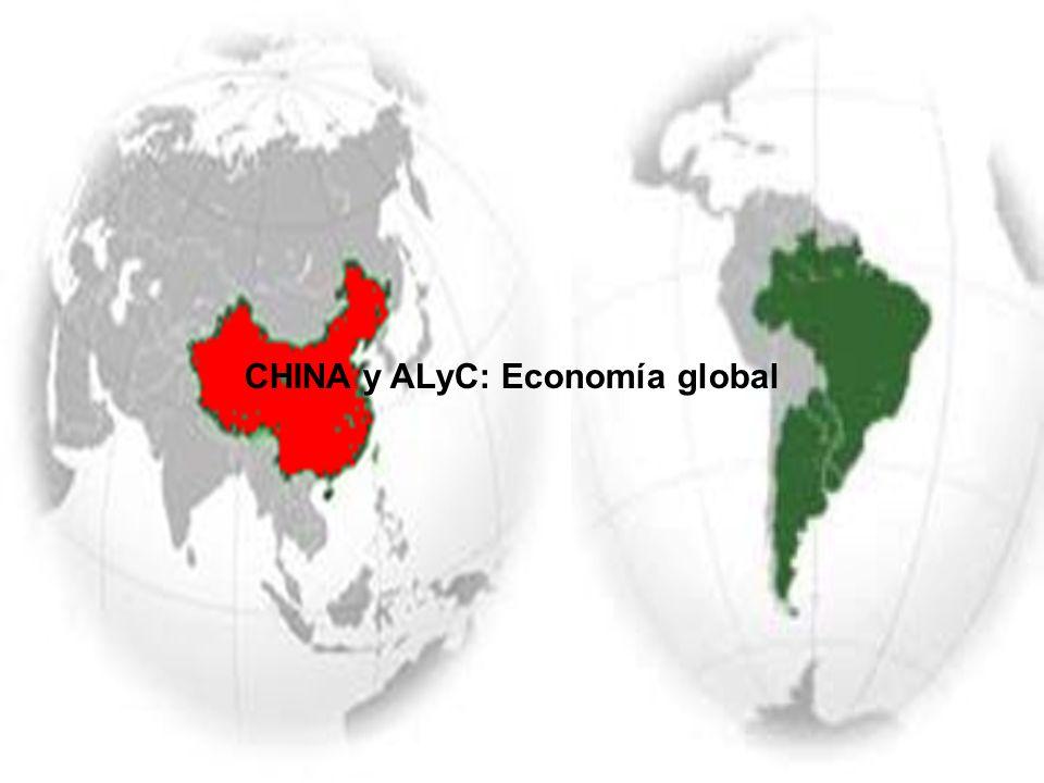CHINA y ALyC: Economía global