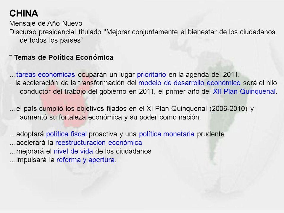 Triangulación China-España-América Latina (desde una percepción china) 2000: Primer ministro chino ZHU: …España no sólo puede contribuir al fortalecimiento de las relaciones entre China y la UE sino también a estrechar vínculos entre China y AL… 2005: Gobierno español: …España dispuesta a servir como puente entre China y AL.