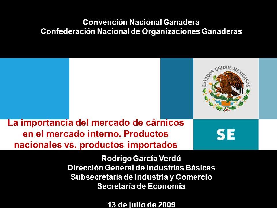Fecha de elaboraciónFirma del área que elabora Convención Nacional Ganadera Confederación Nacional de Organizaciones Ganaderas La importancia del merc