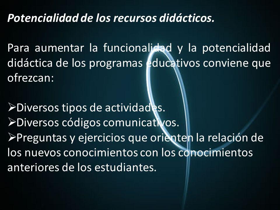 Potencialidad de los recursos didácticos.