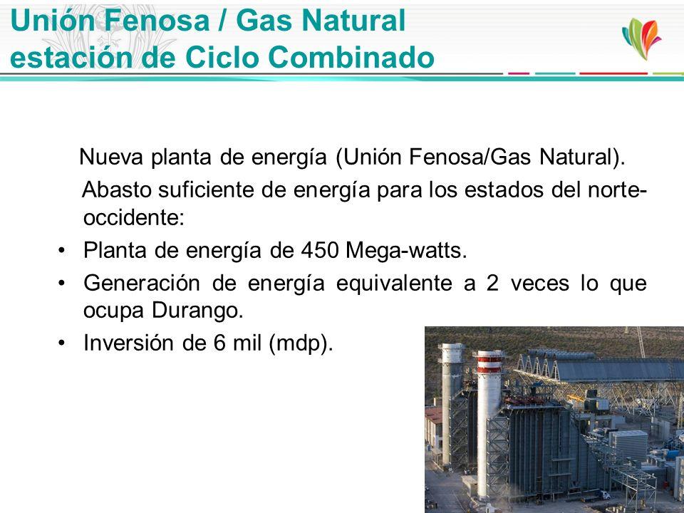 Unión Fenosa / Gas Natural estación de Ciclo Combinado Nueva planta de energía (Unión Fenosa/Gas Natural). Abasto suficiente de energía para los estad