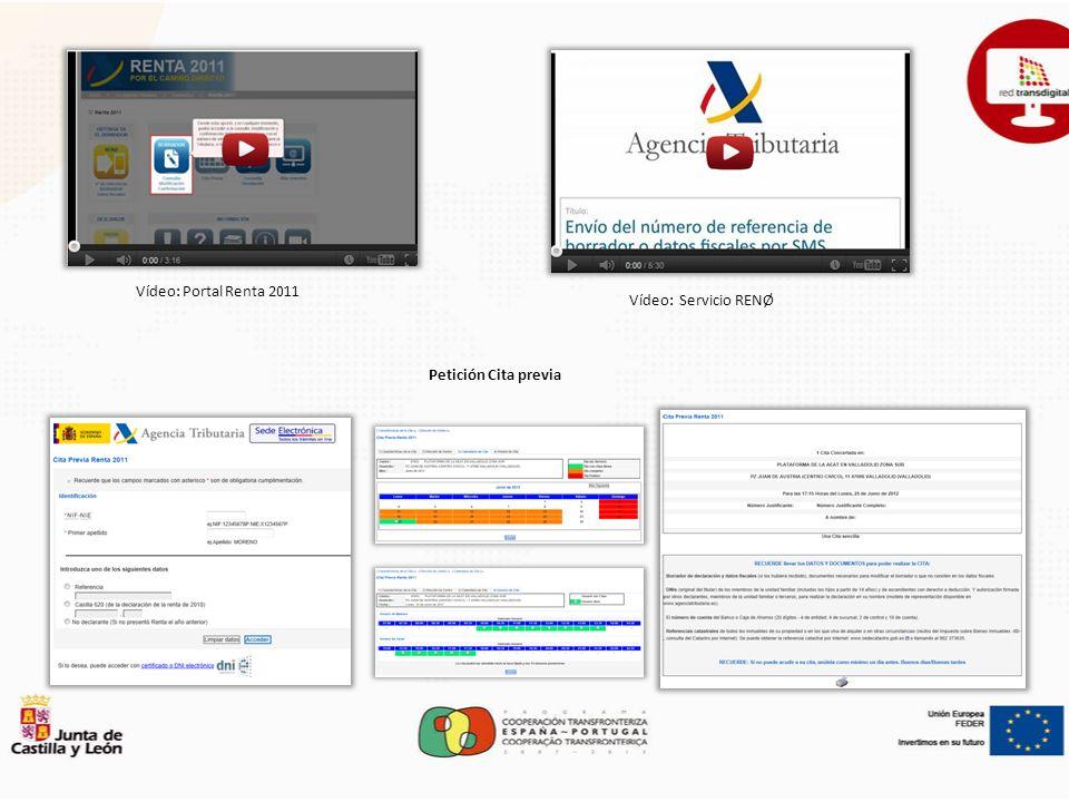 Vídeo: Portal Renta 2011 Petición Cita previa Vídeo: Servicio RENØ