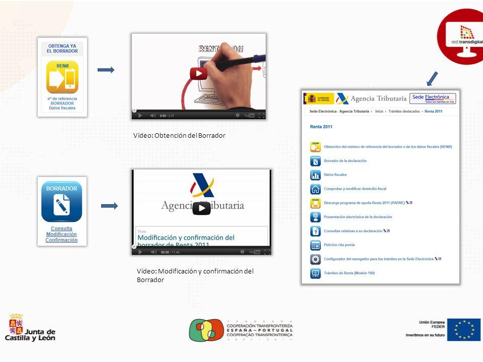 Vídeo: Obtención del Borrador Vídeo: Modificación y confirmación del Borrador