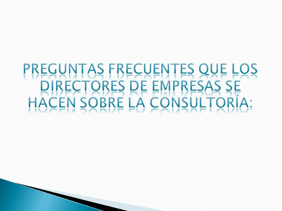 Servicio prestado por una persona o personas independientes y calificadas en la identificación e investigación de problemas relacionados con políticas, organización, procedimientos y métodos; recomendación de medidas apropiadas y prestación de asistencia en la aplicación de dichas recomendaciones.