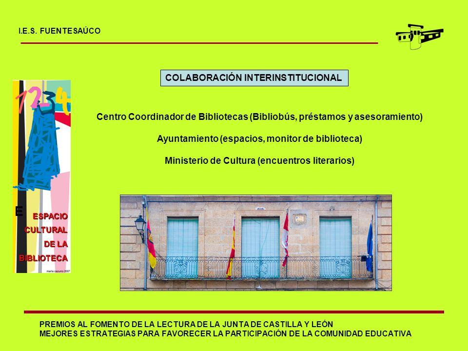 PREMIOS AL FOMENTO DE LA LECTURA DE LA JUNTA DE CASTILLA Y LEÓN MEJORES ESTRATEGIAS PARA FAVORECER LA PARTICIPACIÓN DE LA COMUNIDAD EDUCATIVA I.E.S. F