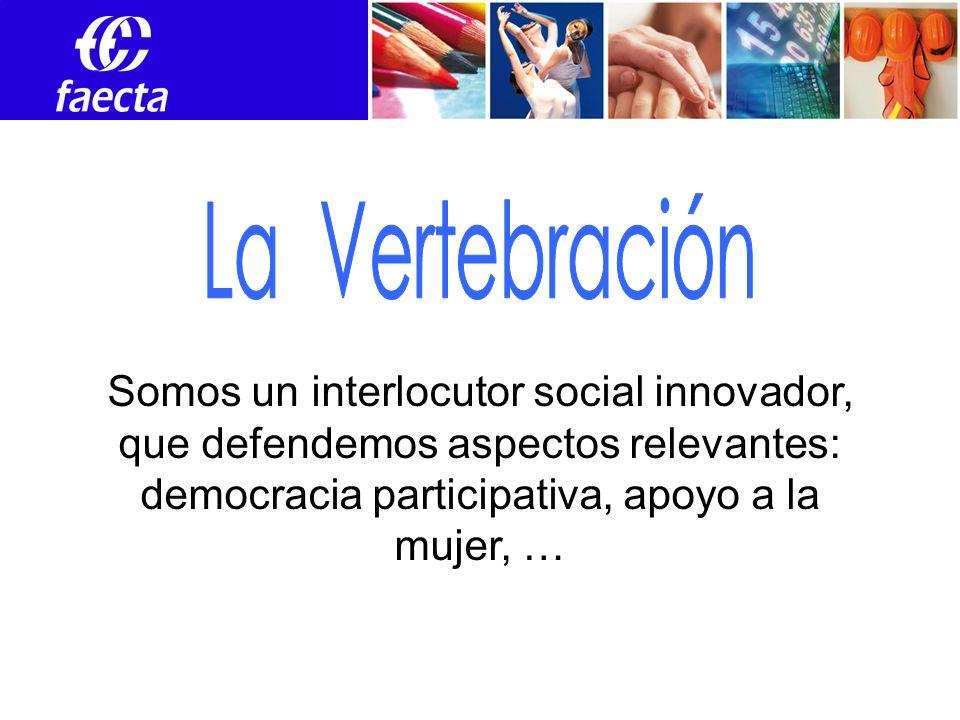 Somos un interlocutor social innovador, que defendemos aspectos relevantes: democracia participativa, apoyo a la mujer, …