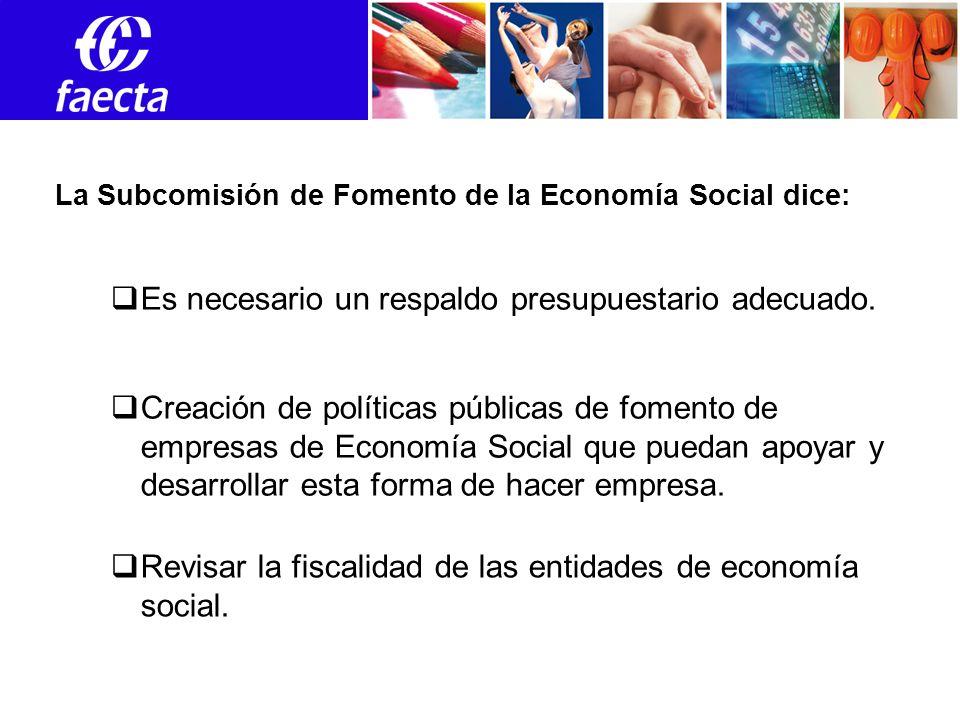 Empleos Creación de políticas públicas de fomento de empresas de Economía Social que puedan apoyar y desarrollar esta forma de hacer empresa.