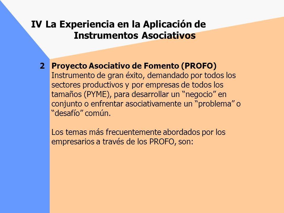 La Experiencia en la Aplicación de Instrumentos Asociativos 1 Fondo de Asistencia Técnica (FAT colectivo). Utilizado, preferentemente, por grupos de e
