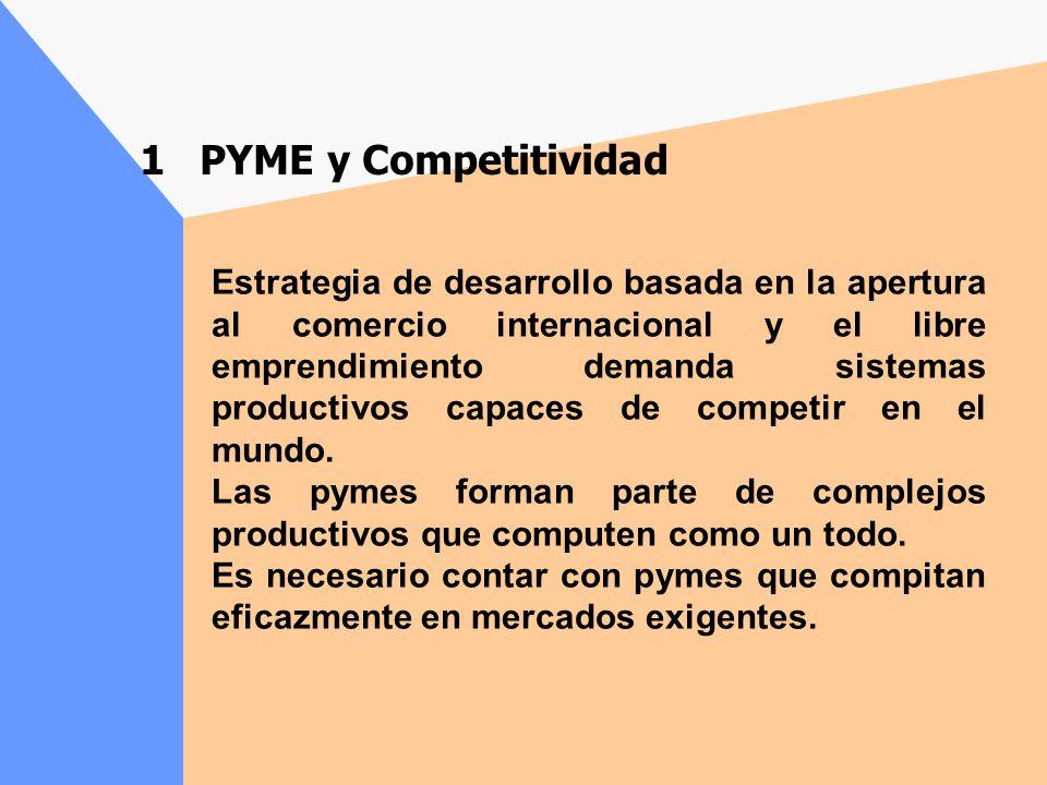 Estrategia de desarrollo basada en la apertura al comercio internacional y el libre emprendimiento demanda sistemas productivos capaces de competir en el mundo.