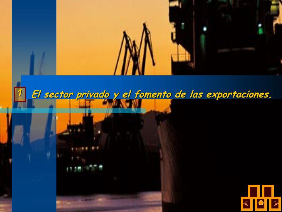 El sector privado y el fomento de las exportaciones. 1