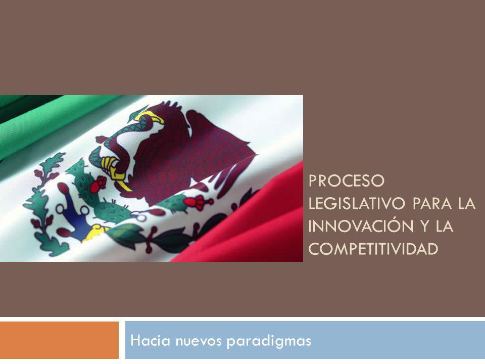 PROCESO LEGISLATIVO PARA LA INNOVACIÓN Y LA COMPETITIVIDAD Hacia nuevos paradigmas