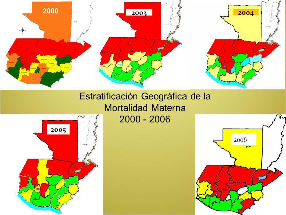 Estratificación Geográfica de la Mortalidad Materna 2000 - 2006